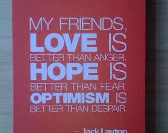 Wall Decoration / Pictbox Love, Hope, Optimism