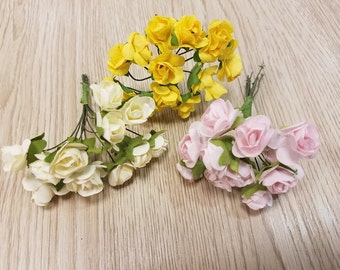 3 Branches 36 pcs. Roses flowers