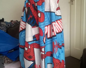 Handmade Spider-Man Dress With Matching Tote Bag