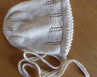 Sally Bonnet Knitting Pattern