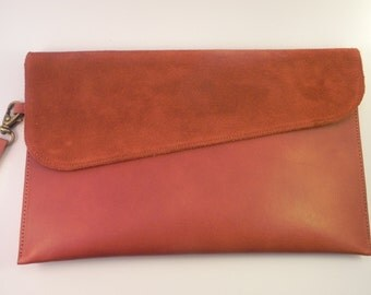 Pouch leather and suede