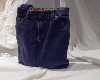 Handmade Jean Purse- up cycled purse