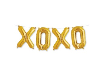 xoxo balloon banner party decor large letter balloon xoxo script wedding balloons