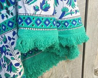 Round Beach Fringe Blanket