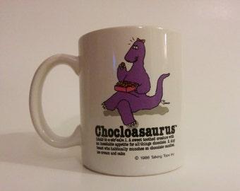 Vintage Talking Tops Fun/Quirky CHOCLOASAURUS Dinosaur Coffee Mug