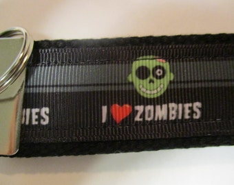 I love zombies key chain keychain