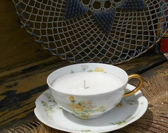Limoges Tea Cup Candle Havilland France