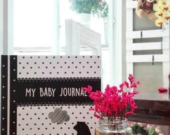 My Baby Journal Mono Bear