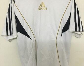 Vintage 90's Adidas Jersey Classic Design Shirt Size L #B12