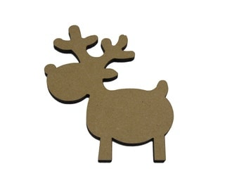 50 x Rudolf Reindeer craft shape, Tags , Decorations Blanks. Quality 4mm thick FREE POSTAGE