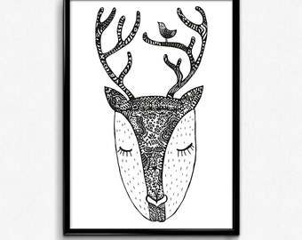 Romantic fawn - poster