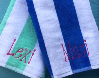 Monogram beach towels / monogram pool towel / beach towels