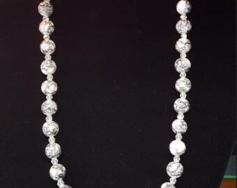 Purple Marble Necklace