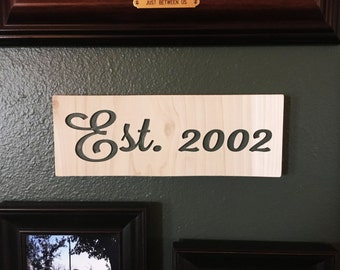 Custom Engraved Wooden Sign