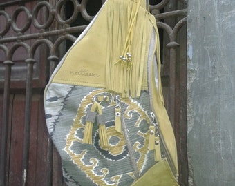 SALE! 40% discount. BolsoTogo skin pink luxus. Togo leather yellow luxus. (Before 120, 00EUR)