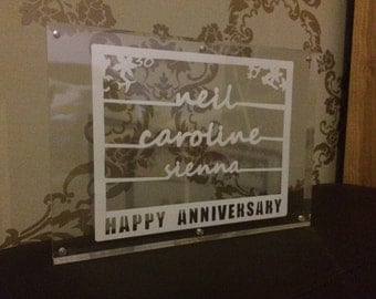 Anniversary papercut - wedding, special events to celebrate love and togetherness