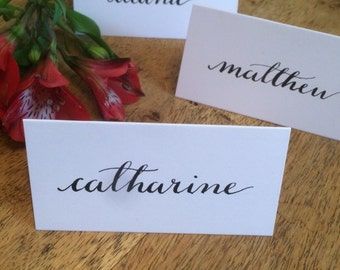 Elegant Hand Written Calligraphy Place Cards