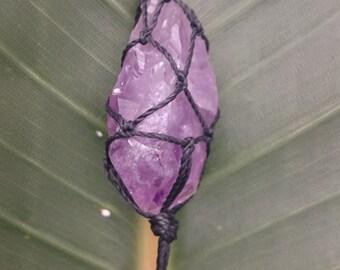 Unique handmade Amethyst necklace with Amazonite stones, healing stone
