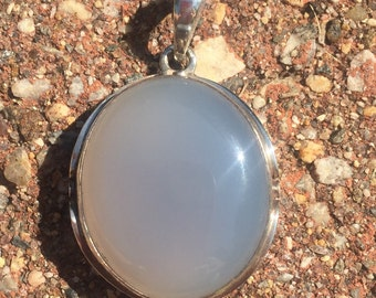 Sterling chalcedony pendant