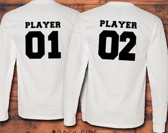 Player One and Player Two - Couple Matching Shirts - Anniversary - Gamer Couple - Cute - Gift - Boyfriend - Girlfriend - Shirt
