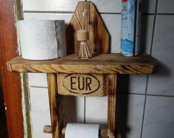 Toilet paper roll holder wooden pallet