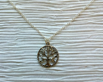 Tree Necklace, Tree of Life Necklace, Silver Pendant, FREE SHIPPING