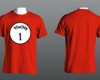 Teacher 1, Teacher 2, Teacher 3, Teacher 4, Teacher 5 / Dr Seuss Theme