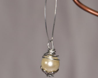 Yellow Pearl Charm Necklace