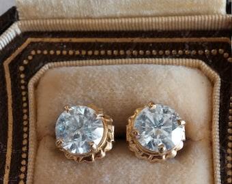 14k Gold 2.5ct Diamond Stud Earrings