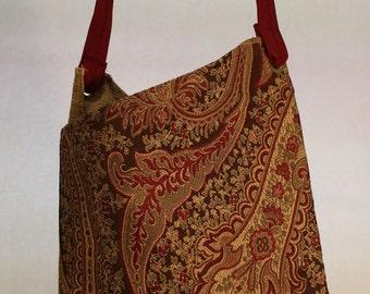 Large Floral Print Bag Item #B50