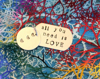 The Beatles All You Need Is Love stamped pendant