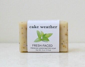 FRESH-FACED - Handcrafted Tea Tree, Mint & Poppy Soap