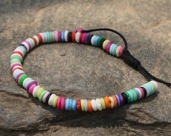 Multicolored Tibetan Beaded Bracelet - Nepal 011