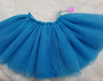 Turquoise Tutu with glitter.