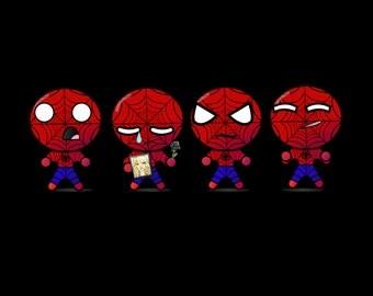 Spider Man Emoji Poster