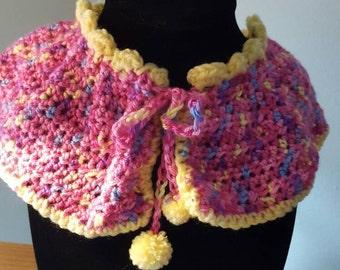Girls crochet collar.  Peter Pan collar
