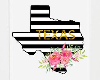 Texas Wall Art state wall art | etsy