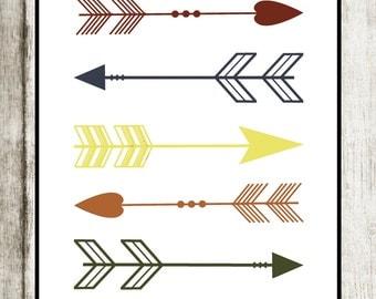 Arrow Print: Woodland Theme Nursery Decor