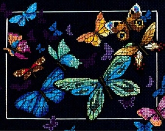 Dimensions Gold Counted Cross Stitch Kit 5 in x 7 in ~ EXOTIC BUTTERFLIES - #06846