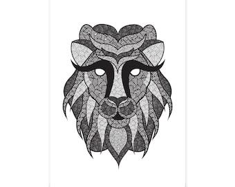Geometric Lion - Illustration