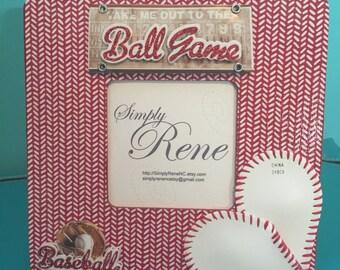 Red Baseball Frame