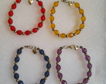 Beaded Bracelet in choice of 4 colors