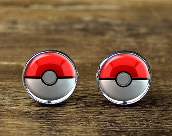 Pokeball cufflinks, Pokemon cufflinks, Pokemon jewelry