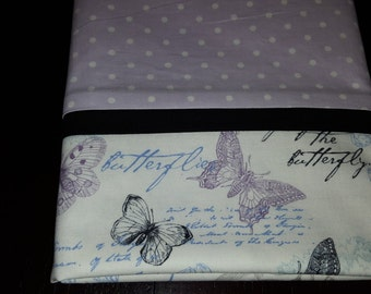 Lavender Butterfly Pillowcase