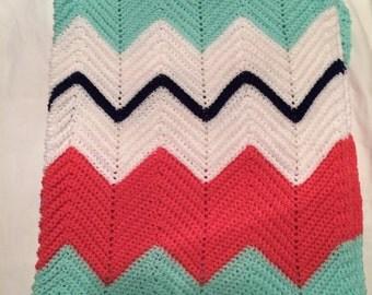 Crochet Chevron Baby afghan