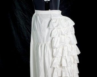 Victorian Steampunk Petticoat with Wire Bustle late 1800s, handmade, Size XL  or