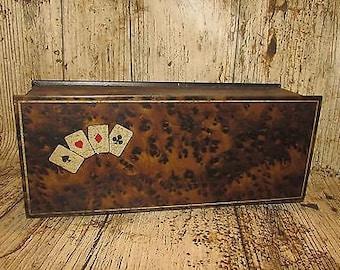 Vintage Playing Card Tin - c1940
