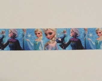 "Frozen Elsa Character 7/8"" (22 mm) Grosgrain Ribbon, Craft, Hair, Cake, Scrapbooking, Sewing (1 yard Length)"