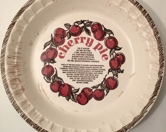 Vintage Cherry Pie Plate from the 70's