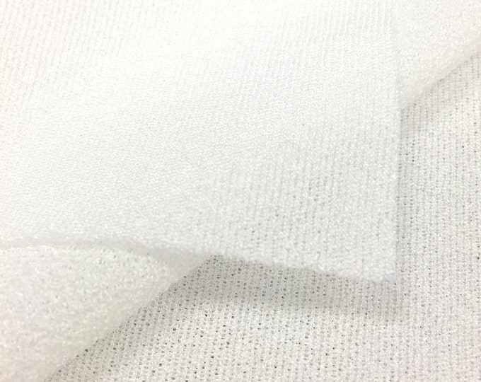 Sheer Crepe Fabric (Wholesale Price Available By the Bolt) USA Made Premium Quality - 1050 White - 1 Yard